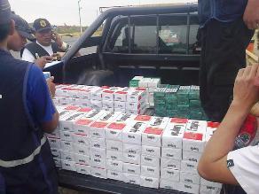 Chiclayo: Incautan 1 600 cajetillas de cigarros de contrabando