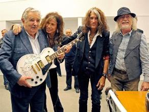 Aerosmith visitó a José Mujica y lo califica de poderoso ejemplo