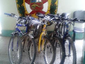 Policía de Junín recupera bicicletas robadas