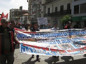 Huancayo: Detienen a dirigentes de la CGTP por cobrar cupos en obra