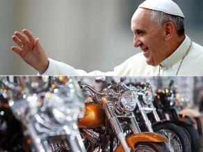 Papa dona moto Harley Davidson para reestructurar comedor de Cáritas