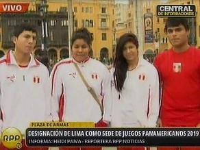 Deportistas saludaron designación de Lima como sede de Panamericanos