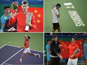 Reviva el festejo de Novak Djokovic en el Masters 1000 de Shanghái