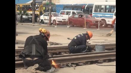 Cercado: Congestión vehicular generaron obras en rieles de Ferrocarril