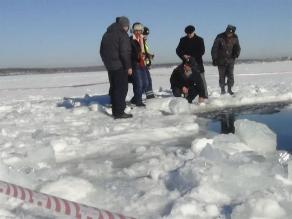 Hallan enorme fragmento de meteorito en un lago ruso