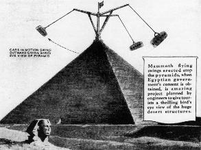 En 1931 se pensó crear parque recreacional en Pirámides de Egipto