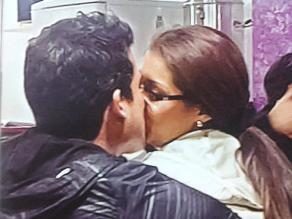Karla Tarazona y Christian Domínguez son captados besándose