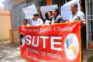 Piura: Integrantes del Sute levanta huelga de hambre