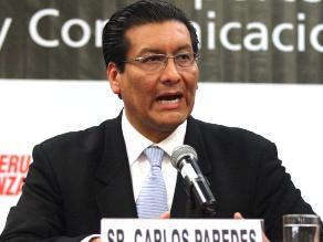Paredes: Es imposible control policial en todas las vías peruanas