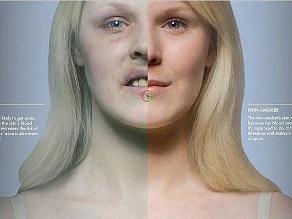 Aplicación finlandesa muestra cómo te queda la cara si fumas en exceso