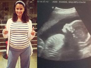 Maricielo Effio confirma que tendrá una niña y muestra ecografía