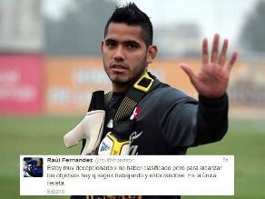 Raúl Fernández: Estoy decepcionado por no haber clasificado al Mundial