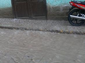 Provincia de Otuzco soportó torrencial lluvia acompañada de granizada