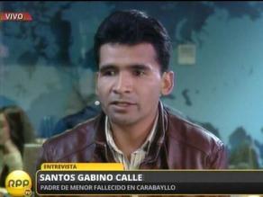 Denunciarán a alcalde de Carabayllo por muerte de niño en parque