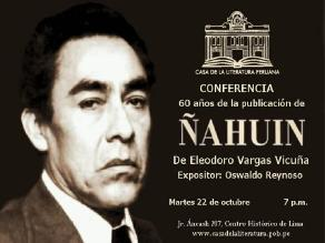 Oswaldo Reynoso rinde homenaje a Eleodoro Vargas Vicuña por cuento Ñahuín