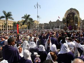 Conozca el plan de desvíos por la procesión del Señor de los Milagros