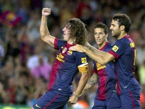 Carles Puyol superó su lesión y fue titular con el Barcelona en liga