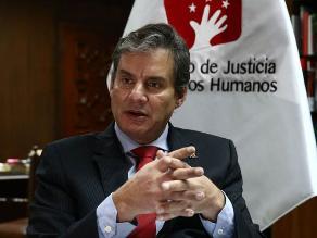 Ministro de Justicia descarta hostigamiento a Alberto Fujimori
