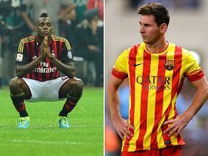 Barcelona alista su mejor once y AC Milan jugará sin Mario Balotelli
