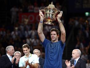 Del Potro derrota a Federer y consigue título del Abierto de Basilea