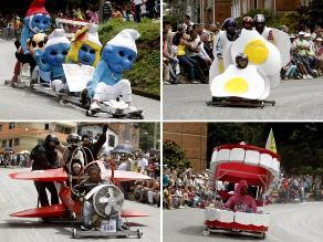 Lo mejor del tradicional festival de carros de rodillos en Medellín