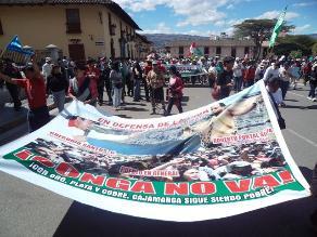 Cajamarca: Piden prisión para joven intervenida en conflicto Conga