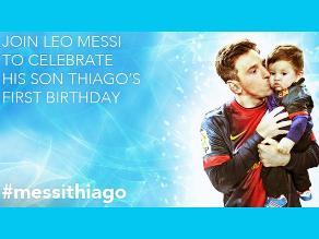 Lionel Messi inició junto a Unicef campaña por el cumpleaños de Thiago