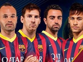 Lionel Messi, Xavi, Iniesta y Neymar nominados al Balón de Oro