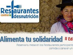 Receta Solidaria contra el hambre reta a chef peruanos