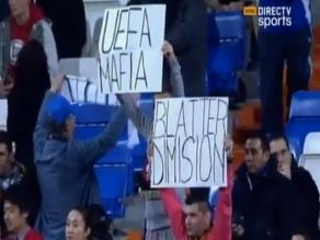 El Santiago Baernabéu respaldó a Cristiano Ronaldo e increpó a Blatter