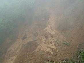 Huamachuco: dos personas sepultadas por deslizamiento de lodo y tierra