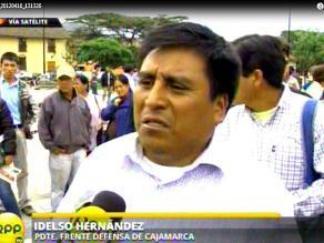 Cajamarca: Hernández califica como vocero de Yanacocha a Vergara