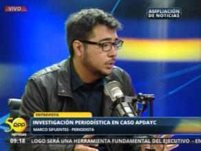 Periodista Sifuentes advierte la inconveniencia de desactivar APDAYC