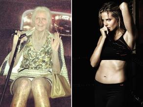 Heidi Klum sorprende con genial caracterización de una anciana