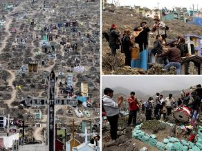 Limeños asisten a cementerios por el Día de Todos los Santos