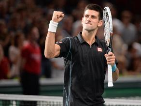 Novak Djokovic es finalista en Bercy tras vencer a Roger Federer
