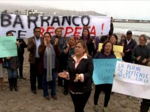 Vecinos protestan contra obras en playas de Barranco