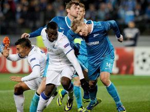 Zenit no pasa del empate 1-1 con Porto por la Champions League
