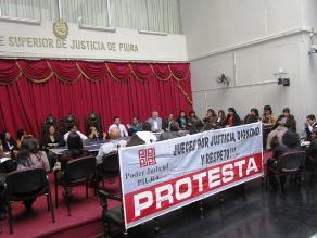 Piura: Jueces paralizan labores por 48 horas