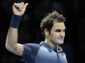 Roger Federer se ve con
