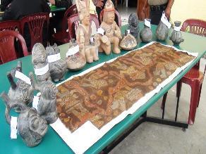 Recuperan piezas arqueológicas profanadas de Huaca Rajada