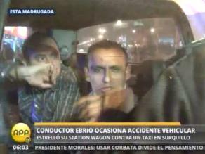 Hermanos aparentemente ebrios provocan accidente vehicular en Surquillo
