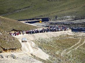Pobladores de Celendín se desplazaron a lagunas cerca a Conga