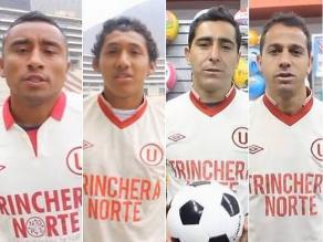 Jugadores de Universitario saludaron a Trinchera Norte por sus 25 años