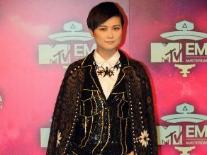 Cantante china Chris Lee en los MTV Europe Music Awards 2013