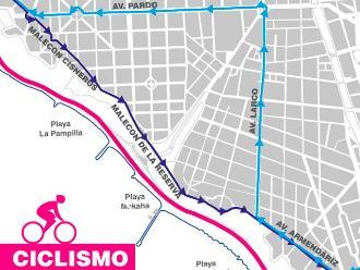 Juegos Bolivarianos: Ruta de desvío por competencia de ciclismo