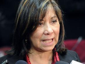 Martha Chávez continuará como coordinadora de subgrupo de DDHH