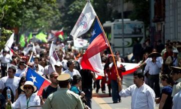 Chile: Trabajadores públicos anuncian paro de 48 horas desde el miércoles