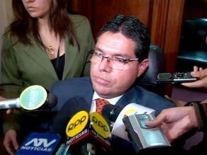 Subcomisión tendrá 15 días para investigar denuncia contra Urtecho