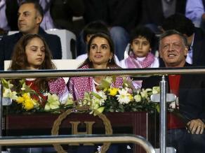 Reina Rania de Jordania terminó decepcionada tras la goleada